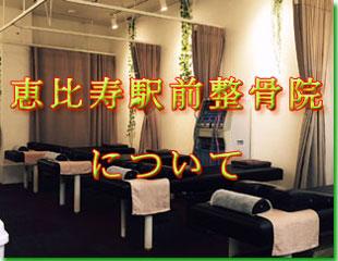 恵比寿駅前整骨院についてのイメージ